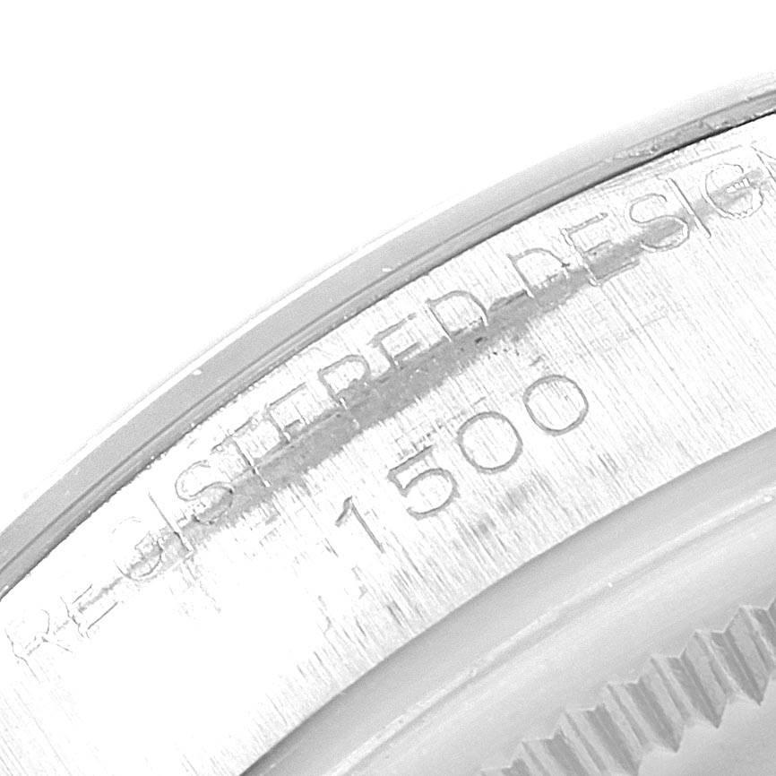 21538 Rolex Date Silver Dial Oyster Bracelet Vintage Mens Watch 1500 SwissWatchExpo