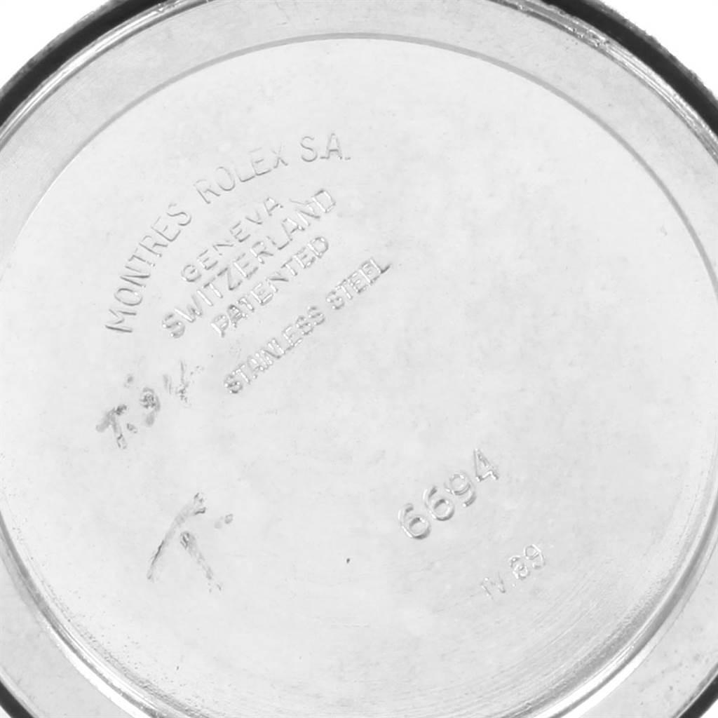 21903 Rolex OysterDate Precision Bronze Dial Steel Vintage Mens Watch 6694 SwissWatchExpo