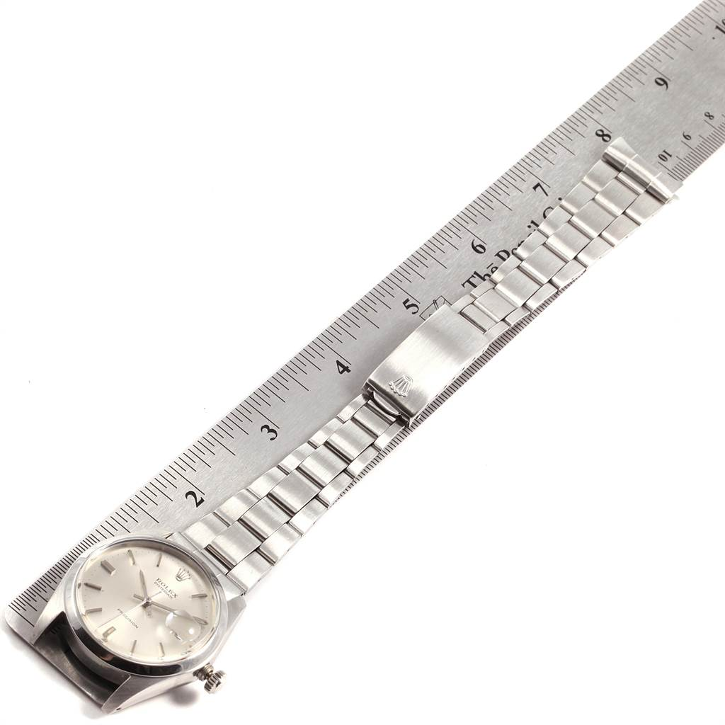 31902 Rolex OysterDate Precision Silver Dial Steel Vintage Mens Watch 6694 SwissWatchExpo