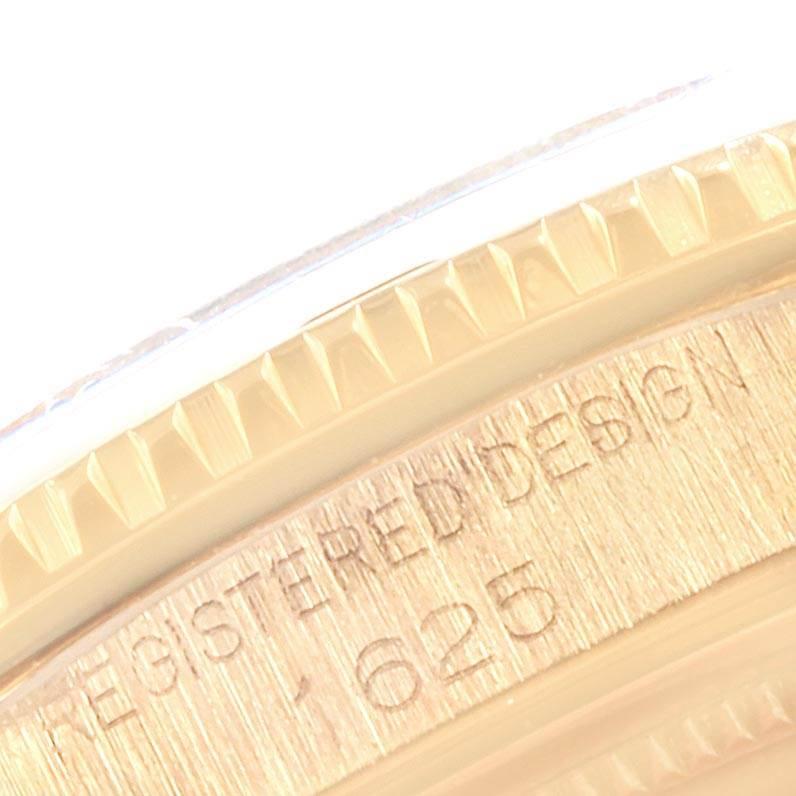 21455 Rolex Turnograph Datejust Yellow Gold Brown Strap Vintage Watch 1625 SwissWatchExpo