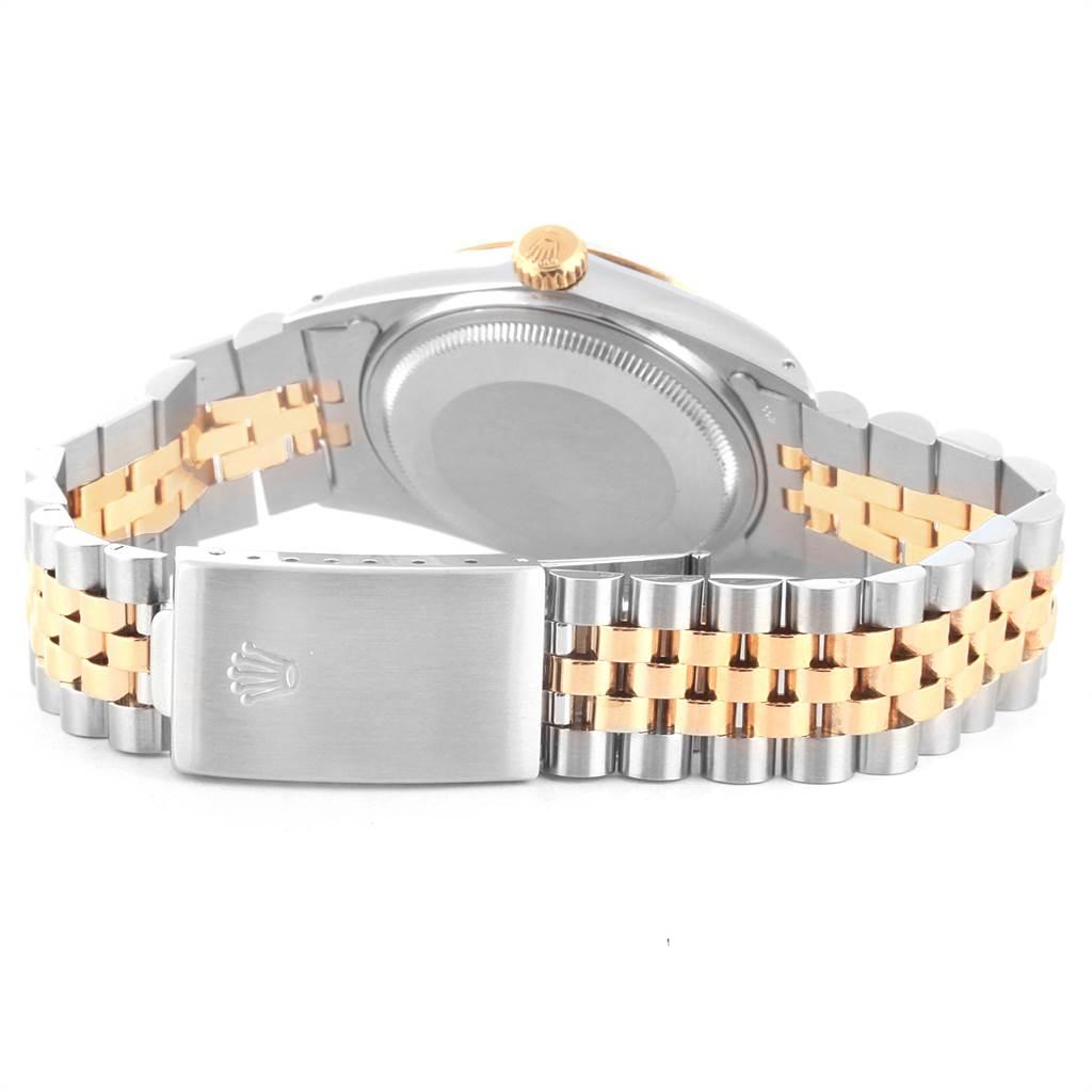 21882 Rolex Datejust 36 Steel Yellow Gold Vintage Mens Watch 16013 SwissWatchExpo