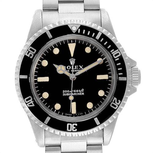 Photo of Rolex Submariner Vintage Stainless Steel Automatic Mens Watch 5513