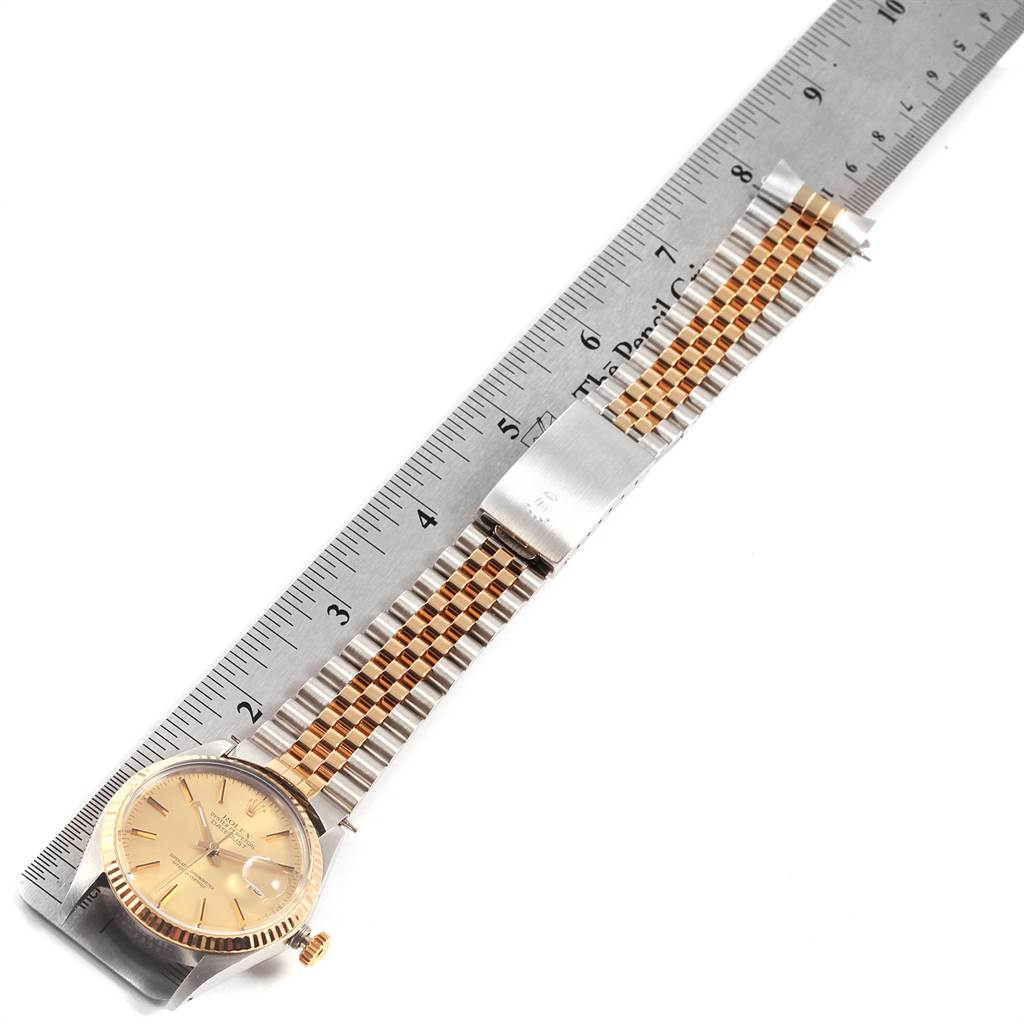 22158 Rolex Datejust 36 Steel Yellow Gold Vintage Mens Watch 16013 SwissWatchExpo