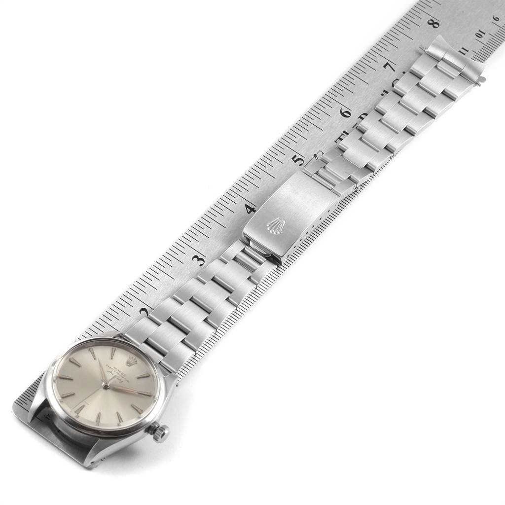 22477 Rolex Air King Vintage Stainless Steel Silver Dial Mens Watch 5500 SwissWatchExpo