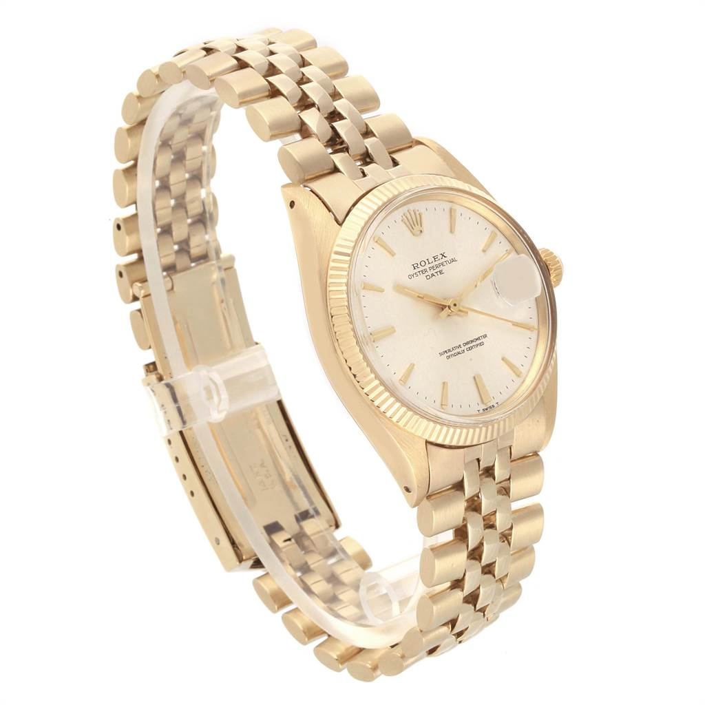 22067 Rolex Date Yellow Gold Jubilee Bracelet Vintage Mens Watch 1503 Box SwissWatchExpo