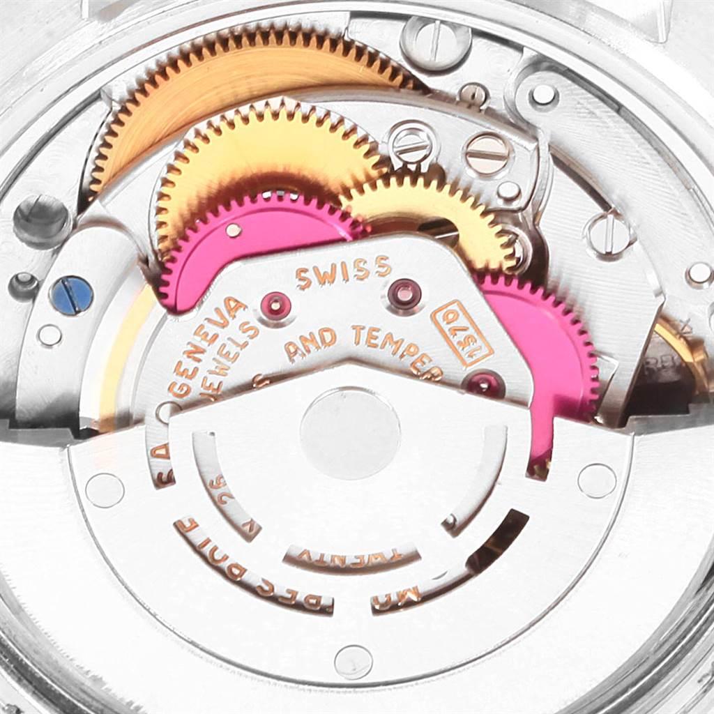 22151 Rolex Datejust Steel White Gold Silver Dial Vintage Mens Watch 1601 SwissWatchExpo