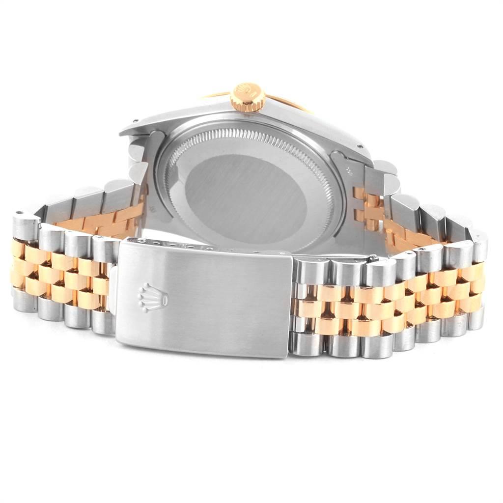 22150 Rolex Datejust 36 Steel Yellow Gold Vintage Mens Watch 16013 SwissWatchExpo