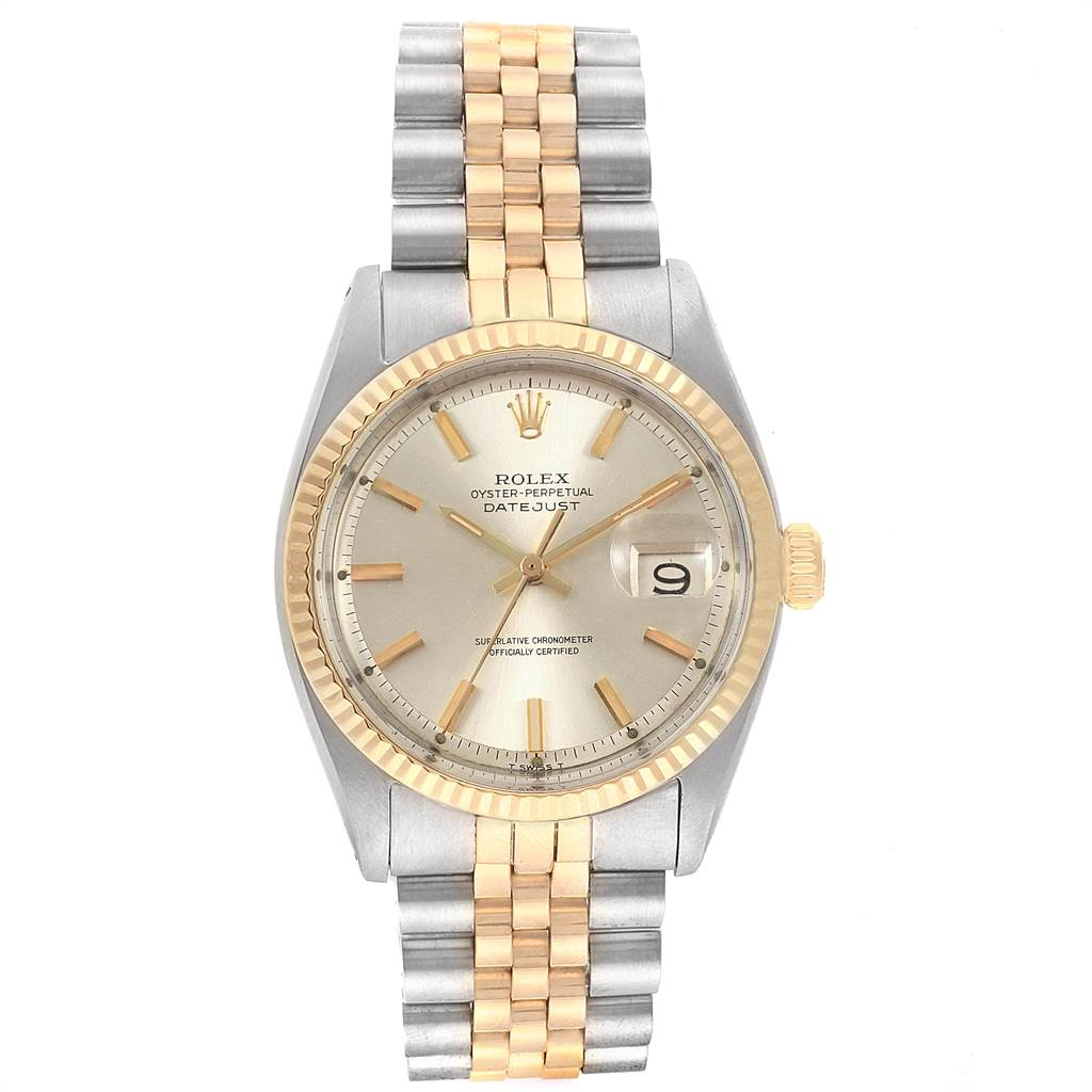 Rolex Datejust Steel Yellow Gold Vintage Mens Watch 1601 SwissWatchExpo