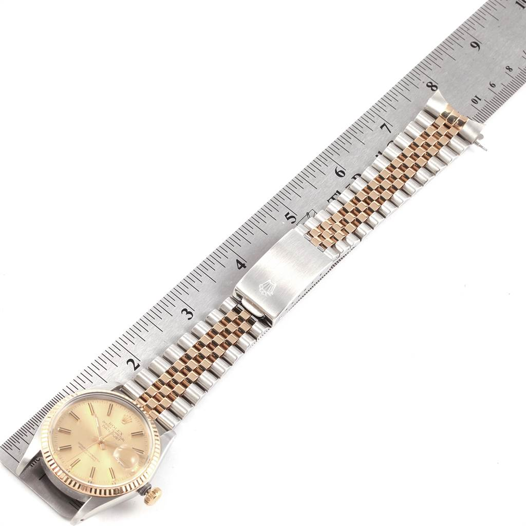 Rolex Datejust 36mm Steel Yellow Gold Vintage Mens Watch 16013 SwissWatchExpo