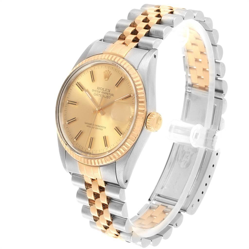 22081 Rolex Datejust 36mm Steel Yellow Gold Vintage Mens Watch 16013 SwissWatchExpo