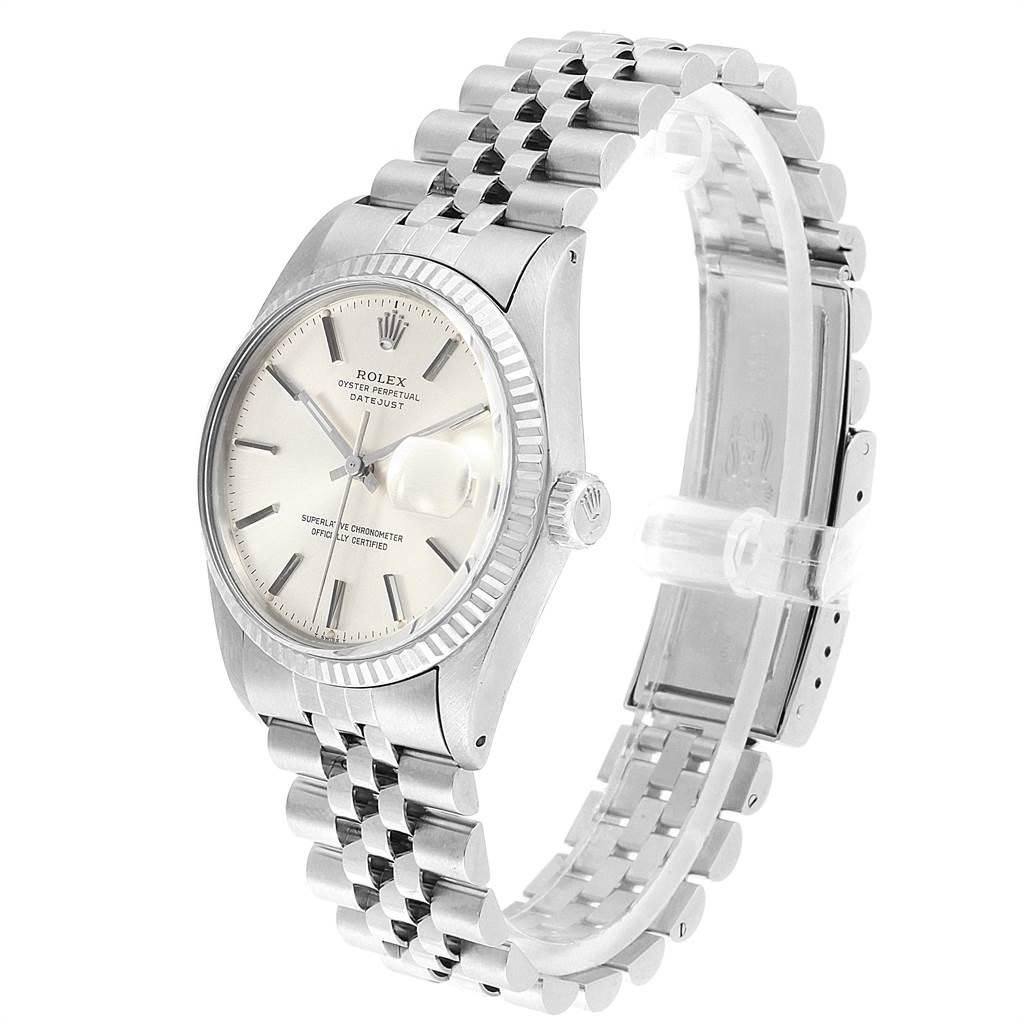 22217 Rolex Datejust Vintage Steel White Gold Jubilee Bracelet Mens Watch 16014 SwissWatchExpo