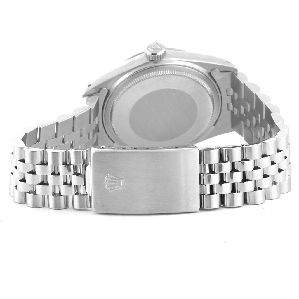 Rolex Datejust Vintage Steel White Gold Jubilee Bracelet Mens Watch 16014 SwissWatchExpo