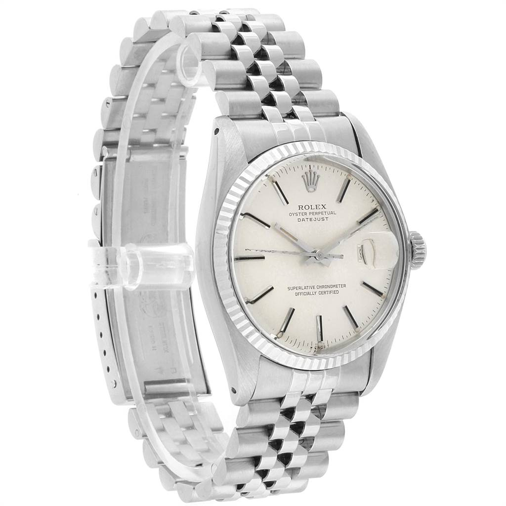 22160 Rolex Datejust 36 Vintage Steel White Gold Automatic Mens Watch 16014 SwissWatchExpo
