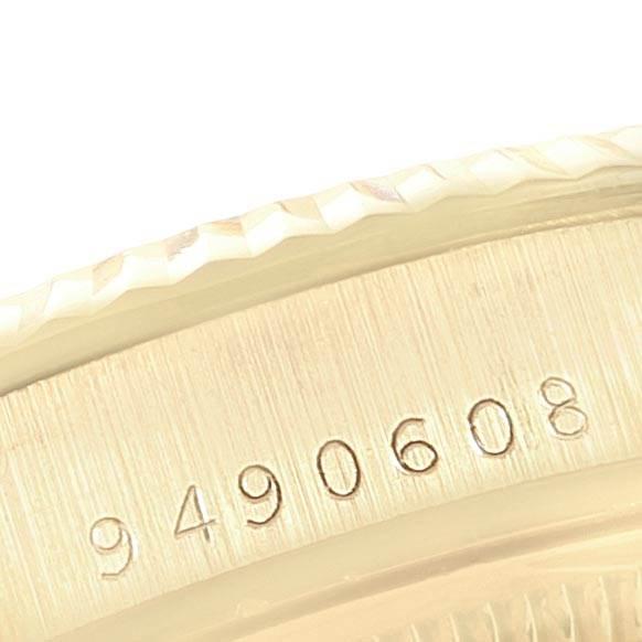 22452 Rolex Date Mens 14k Yellow Gold Diamond Vintage Mens Watch 15037 SwissWatchExpo