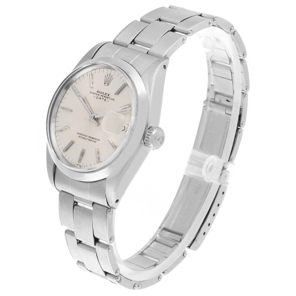 22142 Rolex Date Automatic Stainless Steel Vintage Mens Watch 1500 SwissWatchExpo
