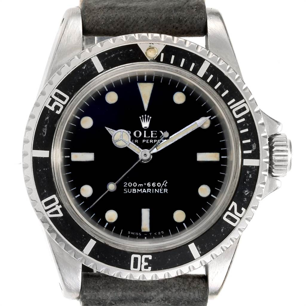 Rolex Submariner Vintage Stainless Steel Automatic Mens Watch 5513 SwissWatchExpo