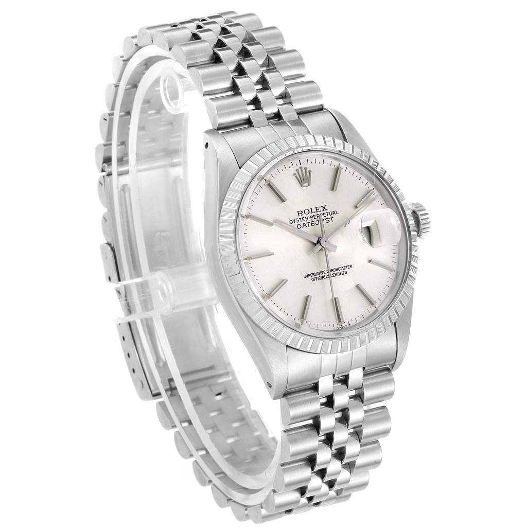 22509 Rolex Datejust 36mm Silver Dial Steel Vintage Mens Watch 16030 SwissWatchExpo