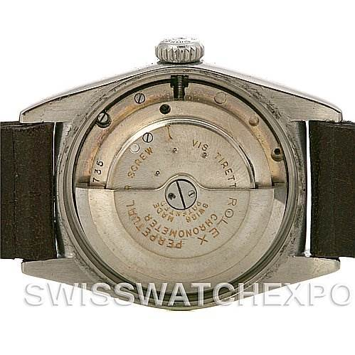 2496 Rolex Vintage Oyster Perpetual Bubbleback Watch 6050 Yer 1950 SwissWatchExpo