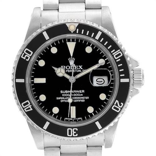 Photo of Rolex Submariner Date Steel Mens Vintage Watch 16800