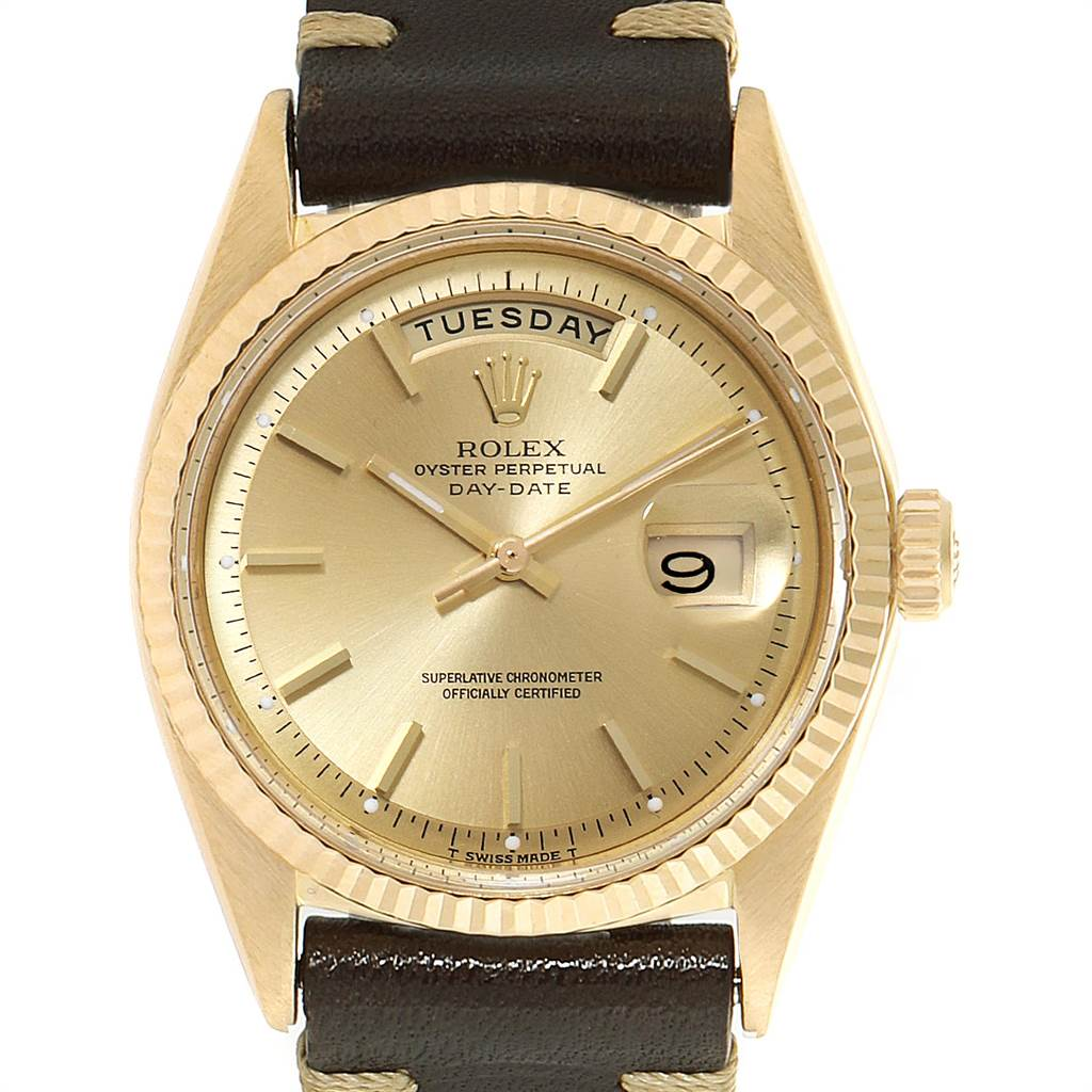 Rolex President Day-Date Vintage Yellow Gold Mens Watch 1803 SwissWatchExpo