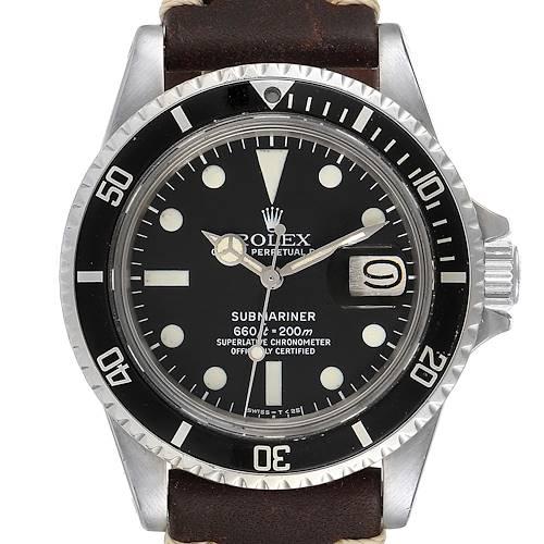 Photo of Rolex Submariner Vintage Brown Strap Steel Mens Watch 1680
