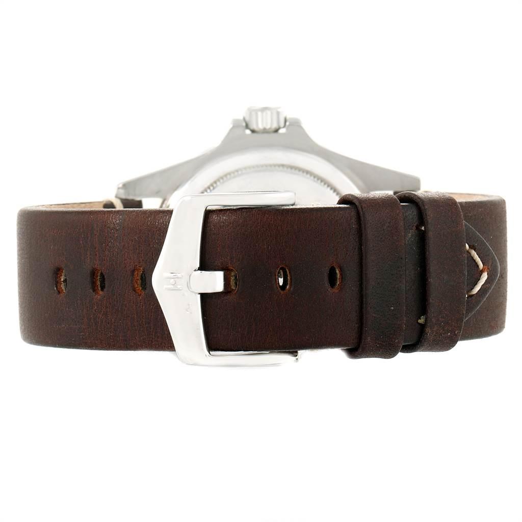 21335 Rolex Submariner Vintage Brown Strap Steel Mens Watch 1680 SwissWatchExpo