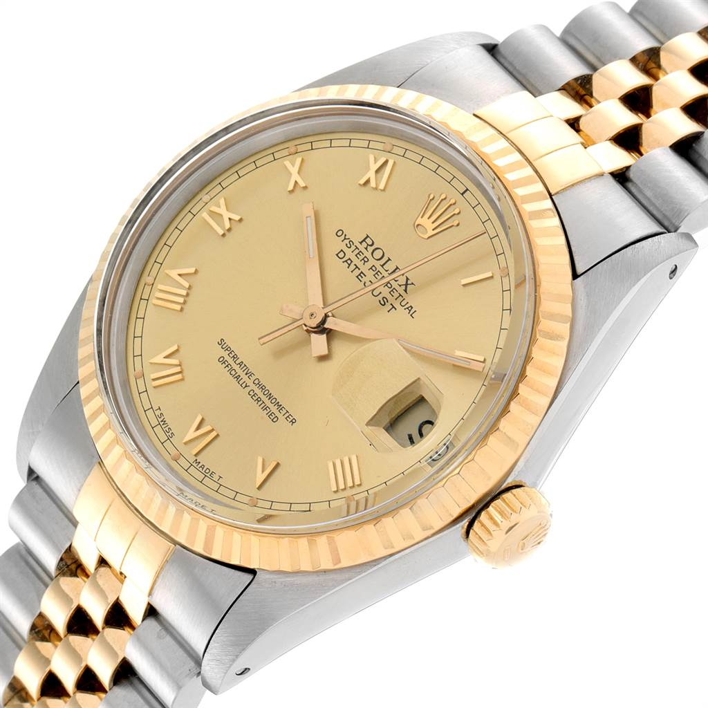23273 Rolex Datejust 36 Steel Yellow Gold Vintage Mens Watch 16013 SwissWatchExpo