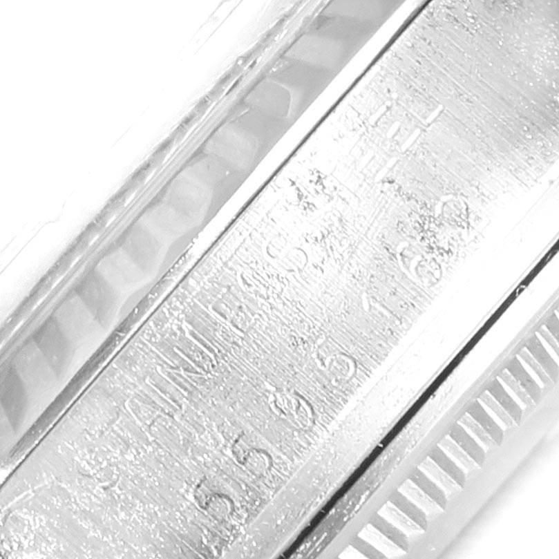 Rolex Datejust Steel White Gold Fluted Bezel Vintage Mens Watch 16014 SwissWatchExpo