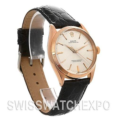 2542 Rolex Vintage 18k Rose Gold Rolex Oyster Perpetual 1003 year 1952 SwissWatchExpo