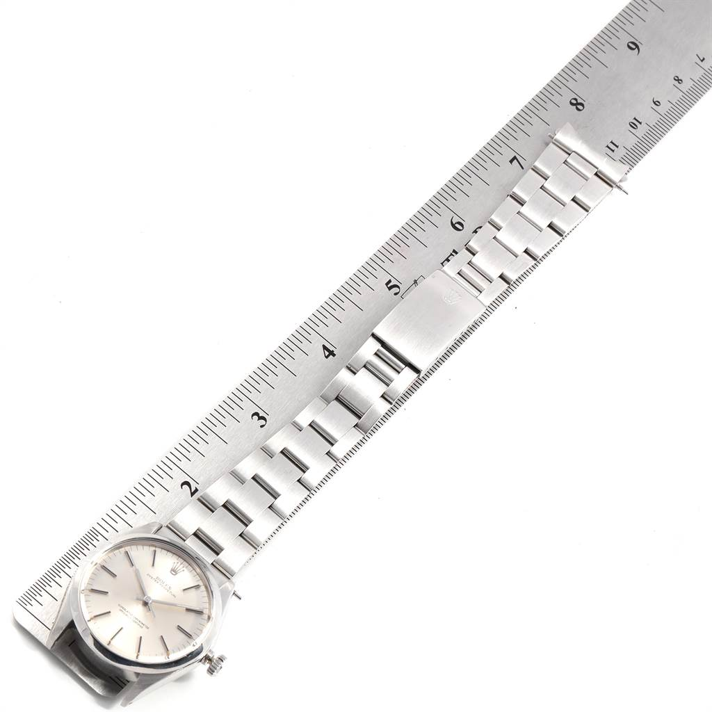 23534 Rolex Oyster Perpetual Silver Dial Vintage Steel Mens Watch 1002 SwissWatchExpo