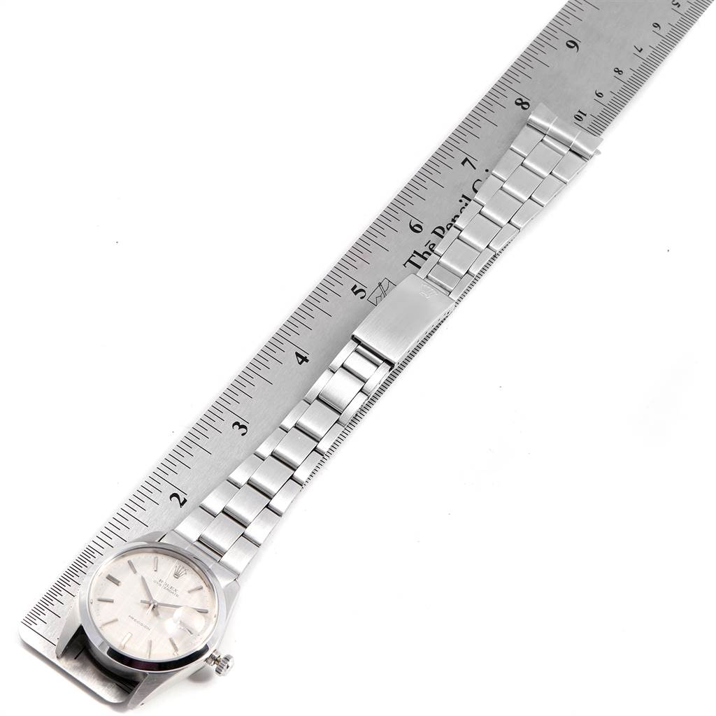 23483 Rolex OysterDate Precision Linen Dial Steel Vintage Mens Watch 6694 SwissWatchExpo
