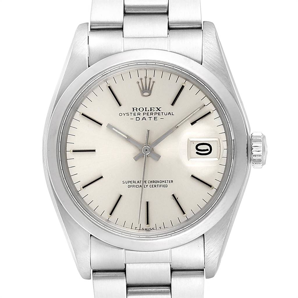Rolex Date Automatic Stainless Steel Vintage Mens Watch 1500 SwissWatchExpo