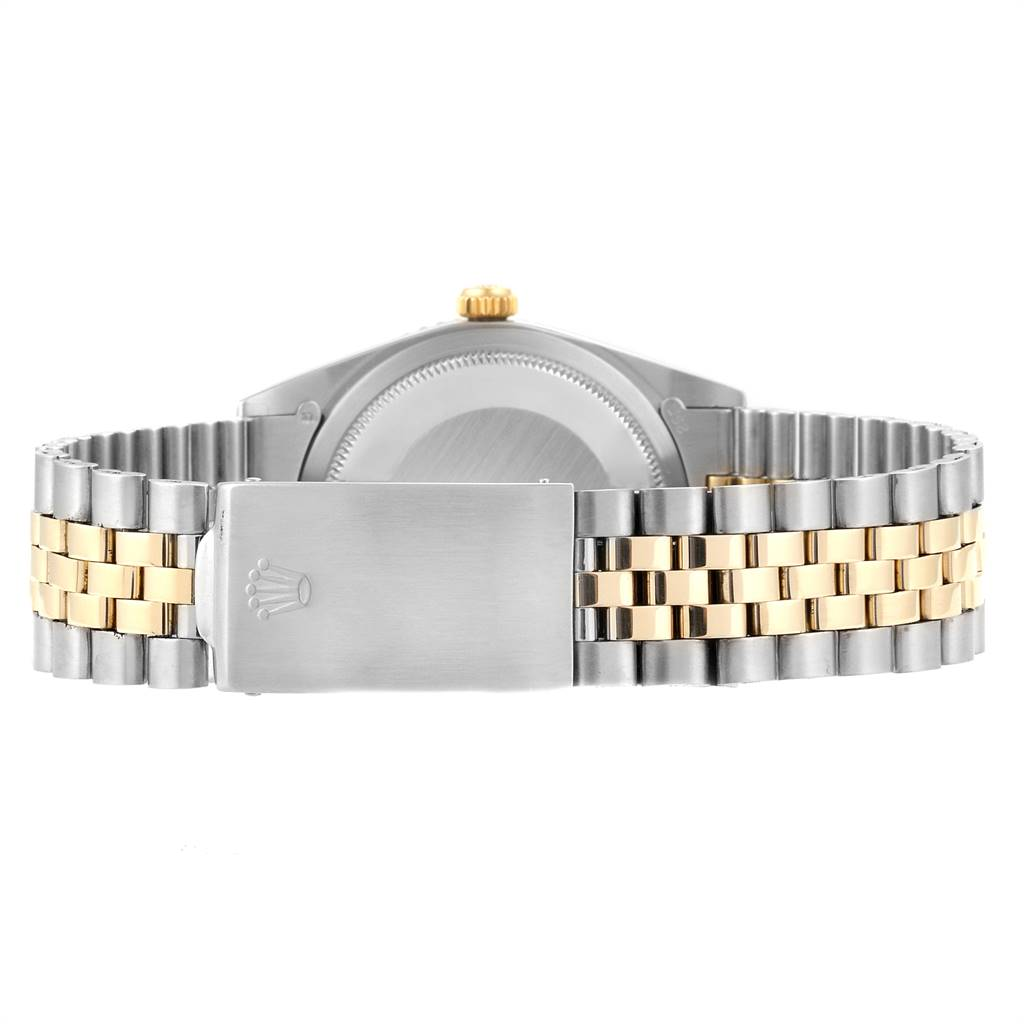 22933 Rolex Datejust Turnograph Steel Yellow Gold Vintage Mens Watch 1625 SwissWatchExpo
