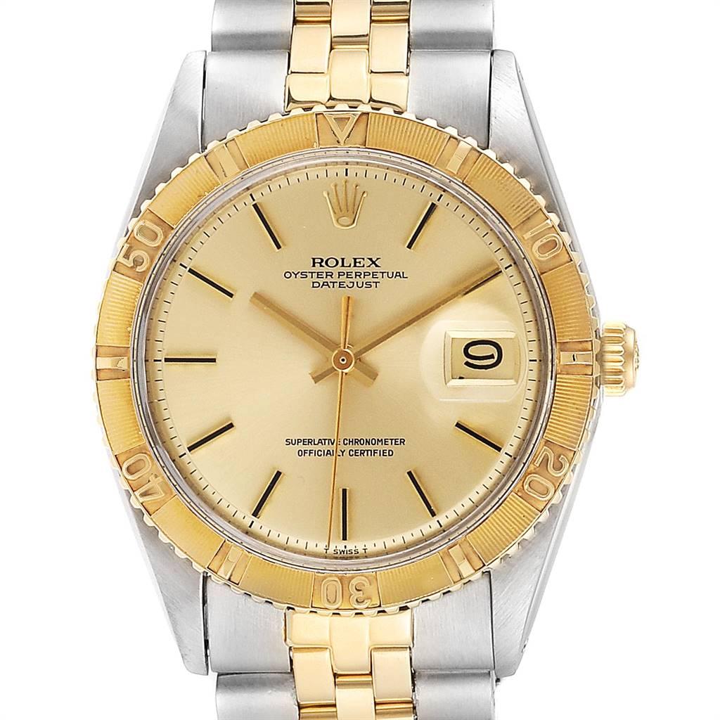 Rolex Datejust Turnograph Steel Yellow Gold Vintage Mens Watch 1625