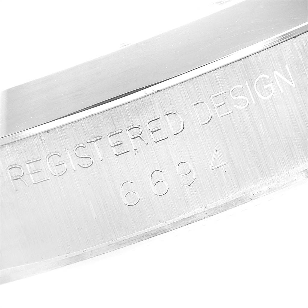 Rolex OysterDate Precision Steel Silver Dial Vintage Mens Watch 6694 SwissWatchExpo