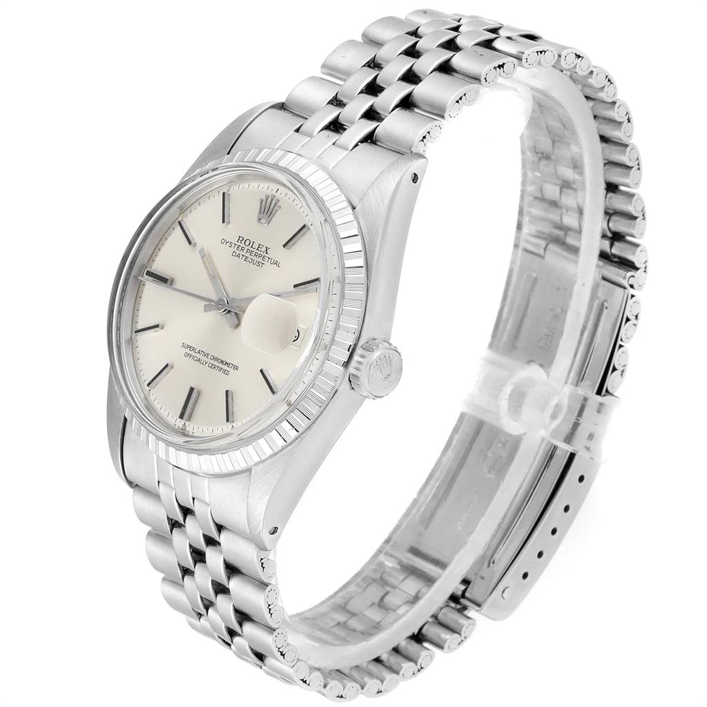 23999 Rolex Datejust 36mm Silver Dial Steel Vintage Mens Watch 1603 SwissWatchExpo