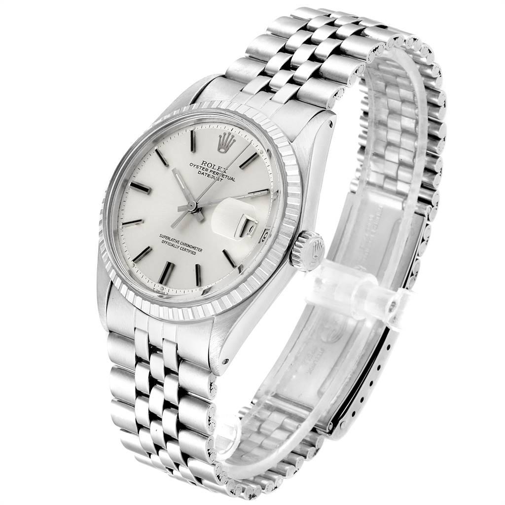 Rolex Datejust Silver Dial Jubilee Bracelet Vintage Mens Watch 1603 SwissWatchExpo