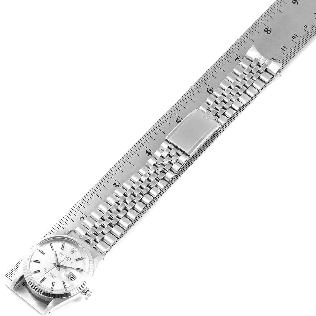 Rolex Datejust Steel White Gold Sigma Dial Vintage Mens Watch 1601 SwissWatchExpo