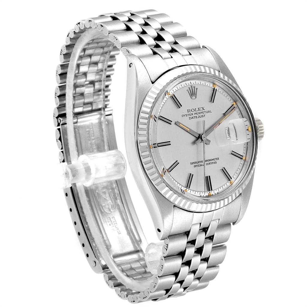 28961 Rolex Datejust Steel White Gold Sigma Dial Vintage Mens Watch 1601  SwissWatchExpo
