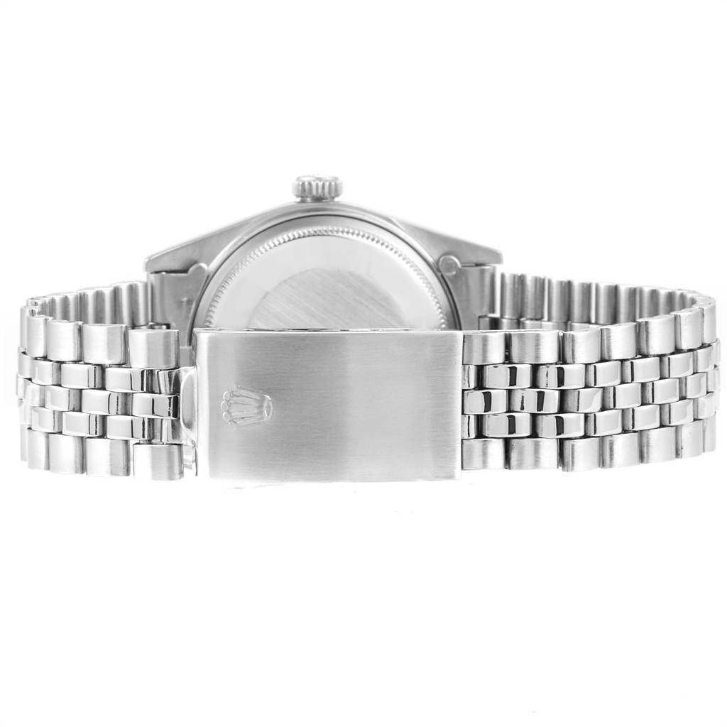 Rolex Datejust Steel White Gold Silver Sigma Dial Vintage Mens Watch 1601 SwissWatchExpo