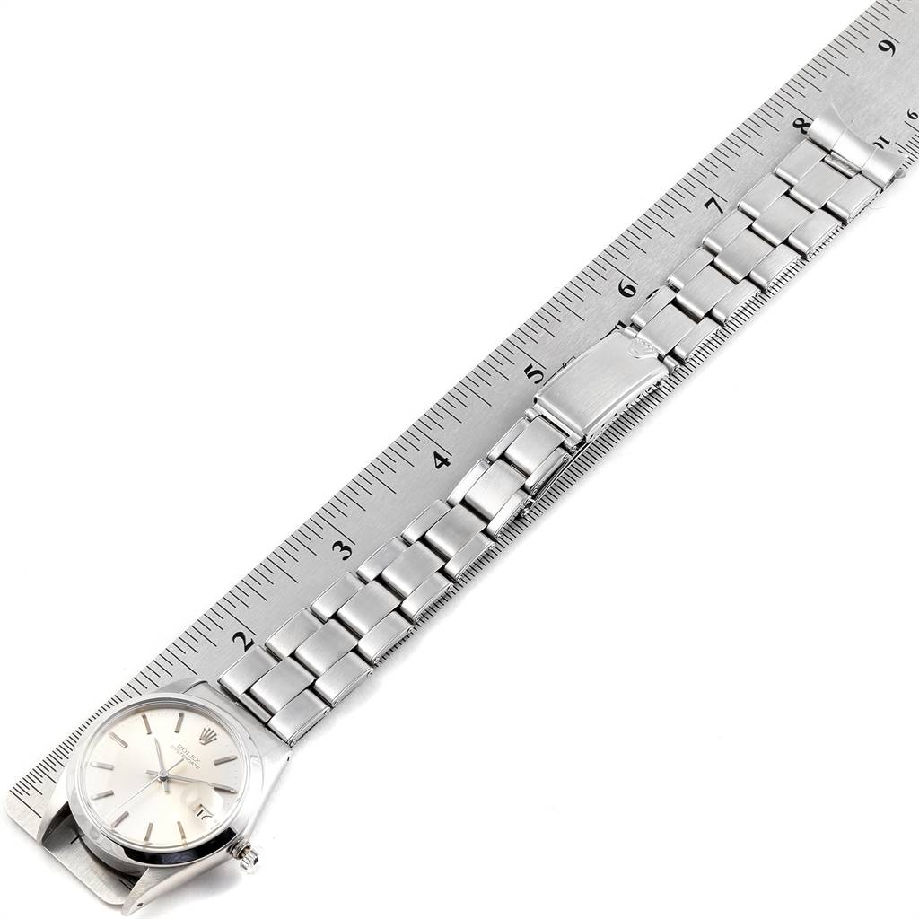 22995 Rolex OysterDate Precision Silver Dial Oyster Bracelet Vintage Watch 6694 SwissWatchExpo