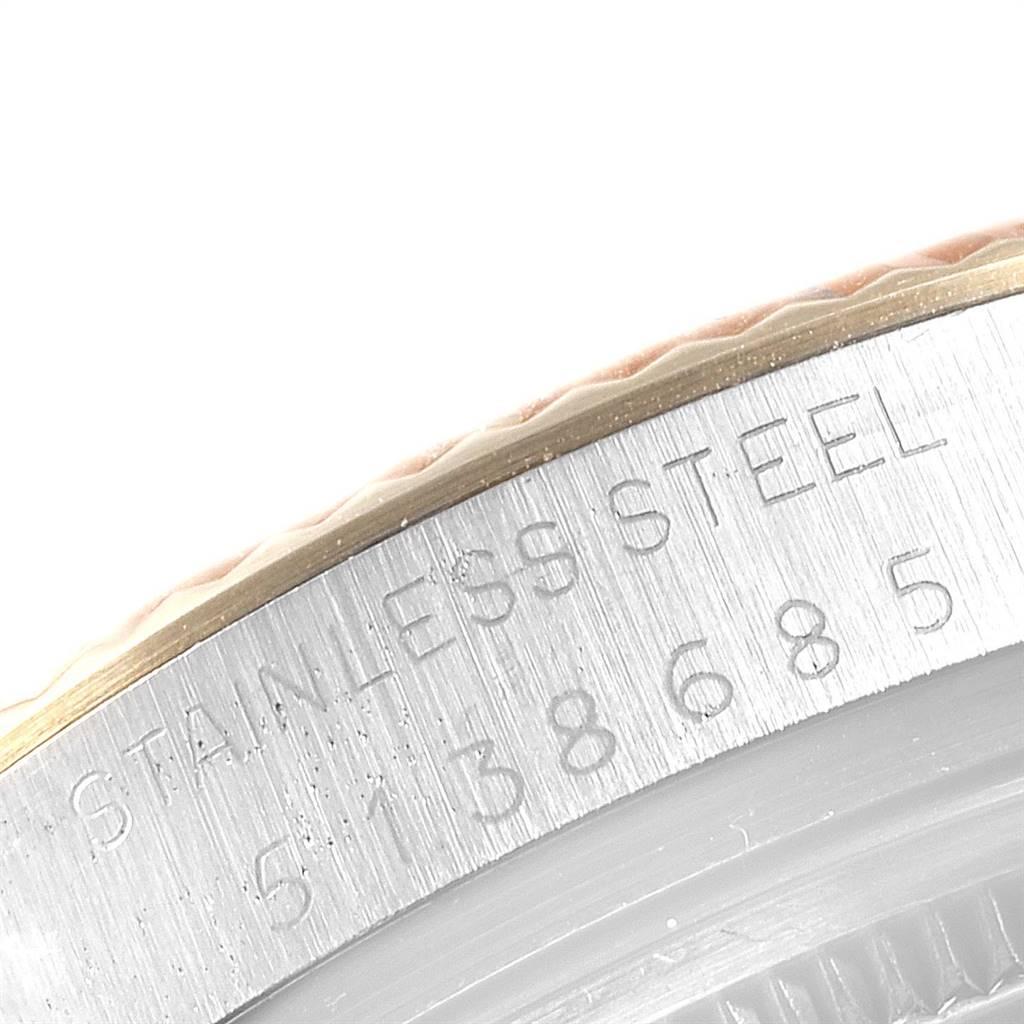 24573 Rolex Datejust Steel Yellow Gold Black Dial Vintage Mens Watch 16013 SwissWatchExpo