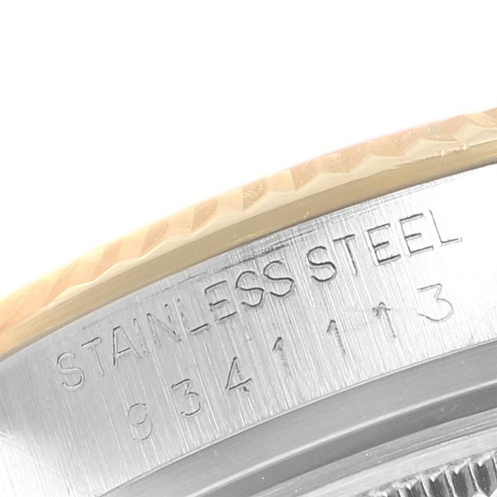 24307 Rolex Datejust Steel Yellow Gold Black Dial Vintage Mens Watch 16013 SwissWatchExpo