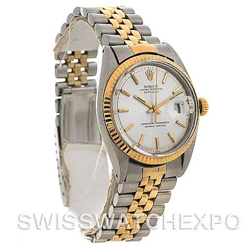 2588 Rolex Datejust Vintage Steel 18k Yellow Gold 1601 Yr 1966 SwissWatchExpo