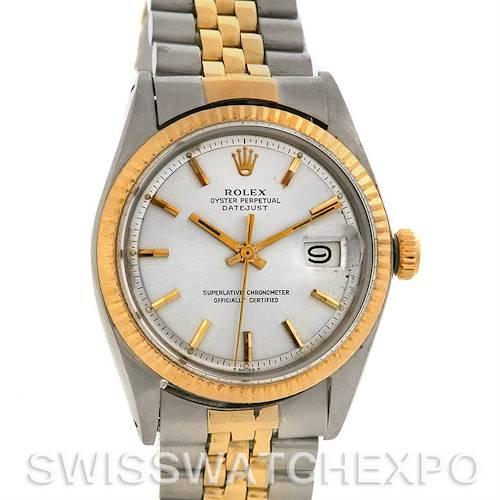 Photo of Rolex Datejust Vintage Steel 18k Yellow Gold 1601 Yr 1966