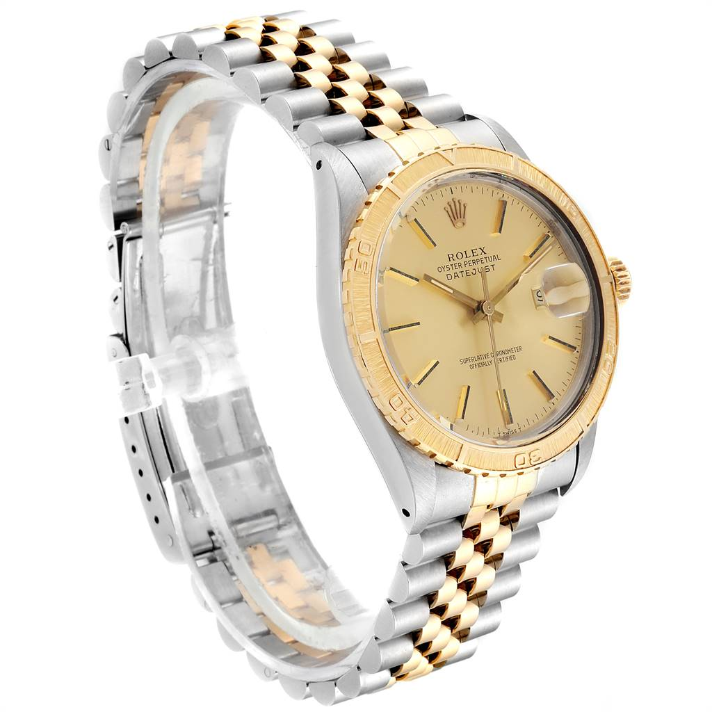 Rolex Datejust Turnograph Steel Yellow Gold Vintage Mens Watch 16253 SwissWatchExpo