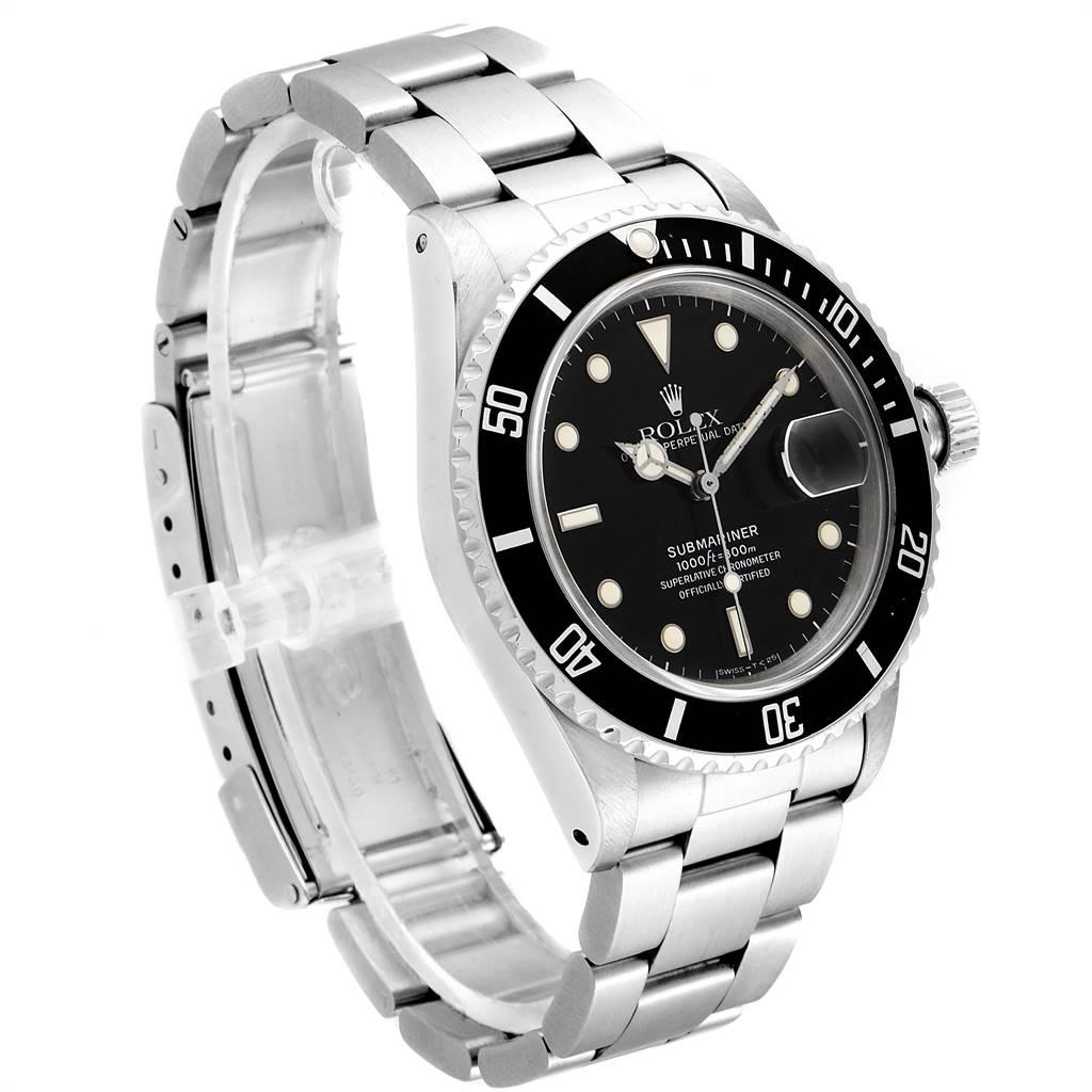 24366 Rolex Submariner Date Steel Mens Vintage Watch 16800 Box SwissWatchExpo