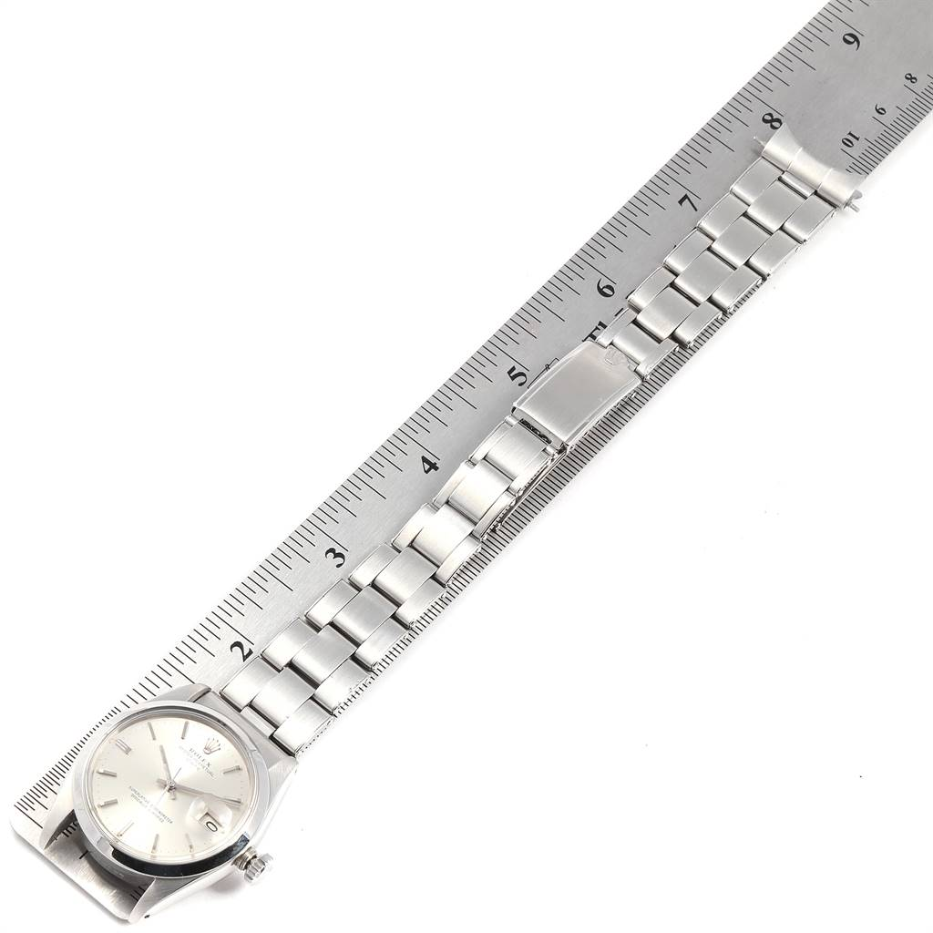 24252 Rolex Date Automatic Stainless Steel Vintage Mens Watch 1500 SwissWatchExpo