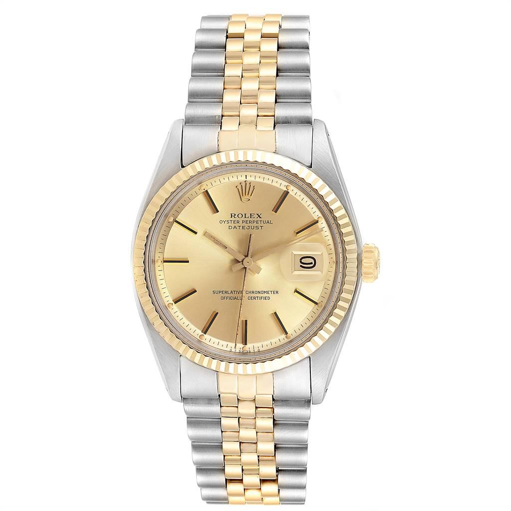 Rolex Datejust Steel Yellow Gold Sigma Dial Vintage Mens Watch 1601 SwissWatchExpo