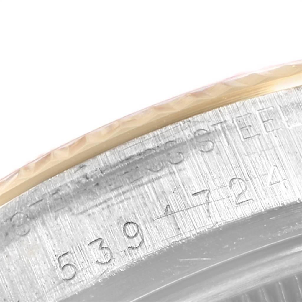 Rolex Datejust 36 Steel Yellow Gold Linen Dial Vintage Mens Watch 16013 SwissWatchExpo